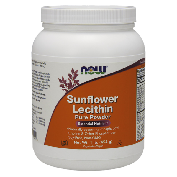 NOW Foods Sunflower Lecithin Pure Powder